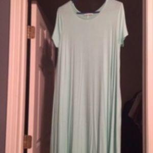 Mint Midi Dress with Pockets